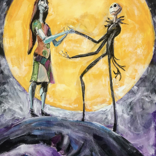 Sally & Jack Skellington
